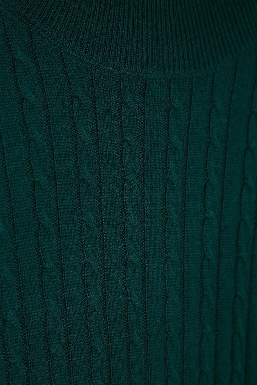 Addicted Зеленое платье из шерстяного трикотажа зеленое платье
