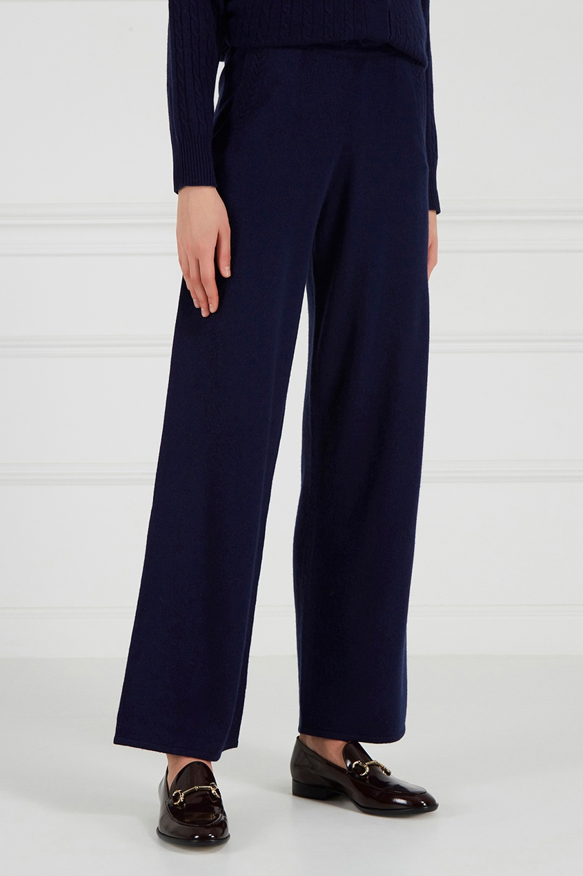 Addicted Синие кашемировые брюки