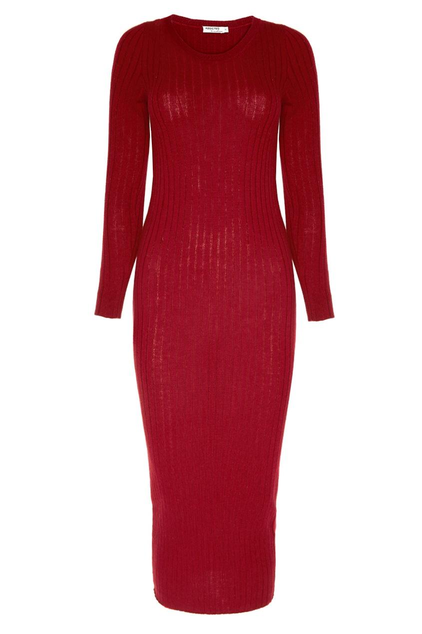 Addicted Бордовое платье из шерсти платье велюровое мириам бордовое