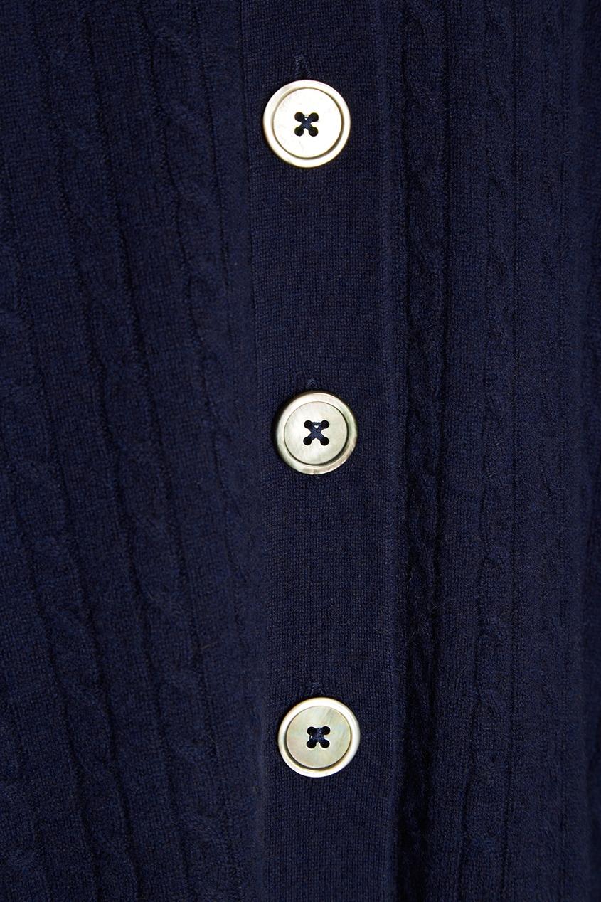 Синий кашемировый кардиган
