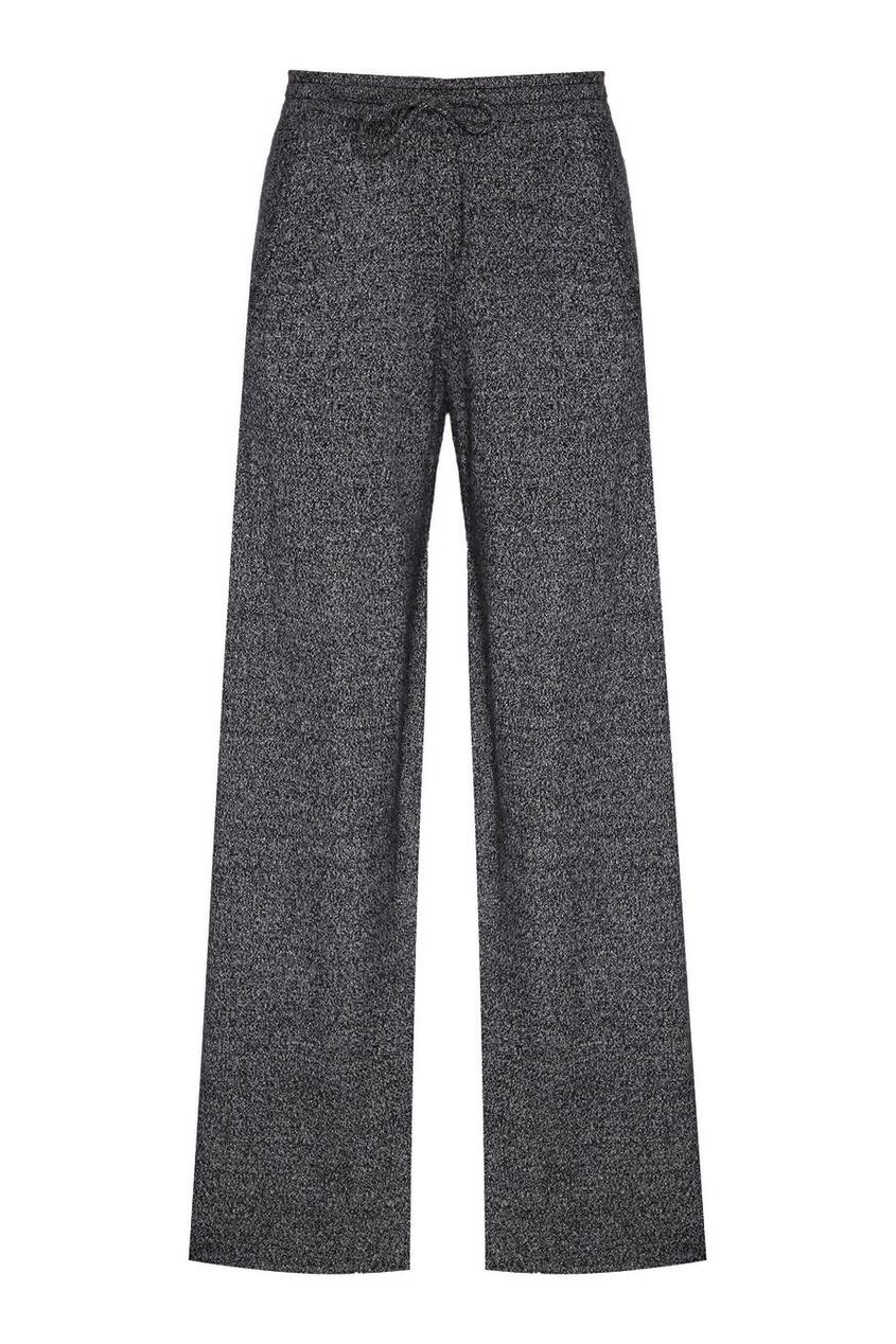 Addicted Меланжевые брюки из кашемира addicted синие кашемировые брюки
