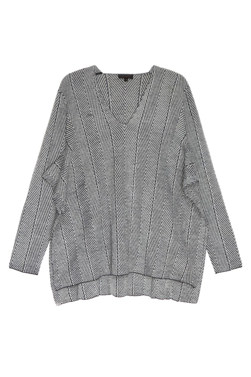 Adolfo Dominguez Пуловер из шерстяного трикотажа пальто из шерстяного драпа 70
