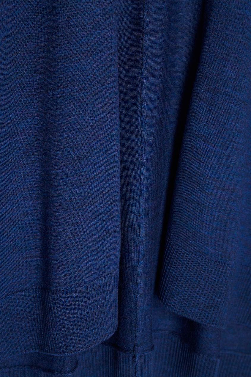 Темно-синий кардиган из шерсти