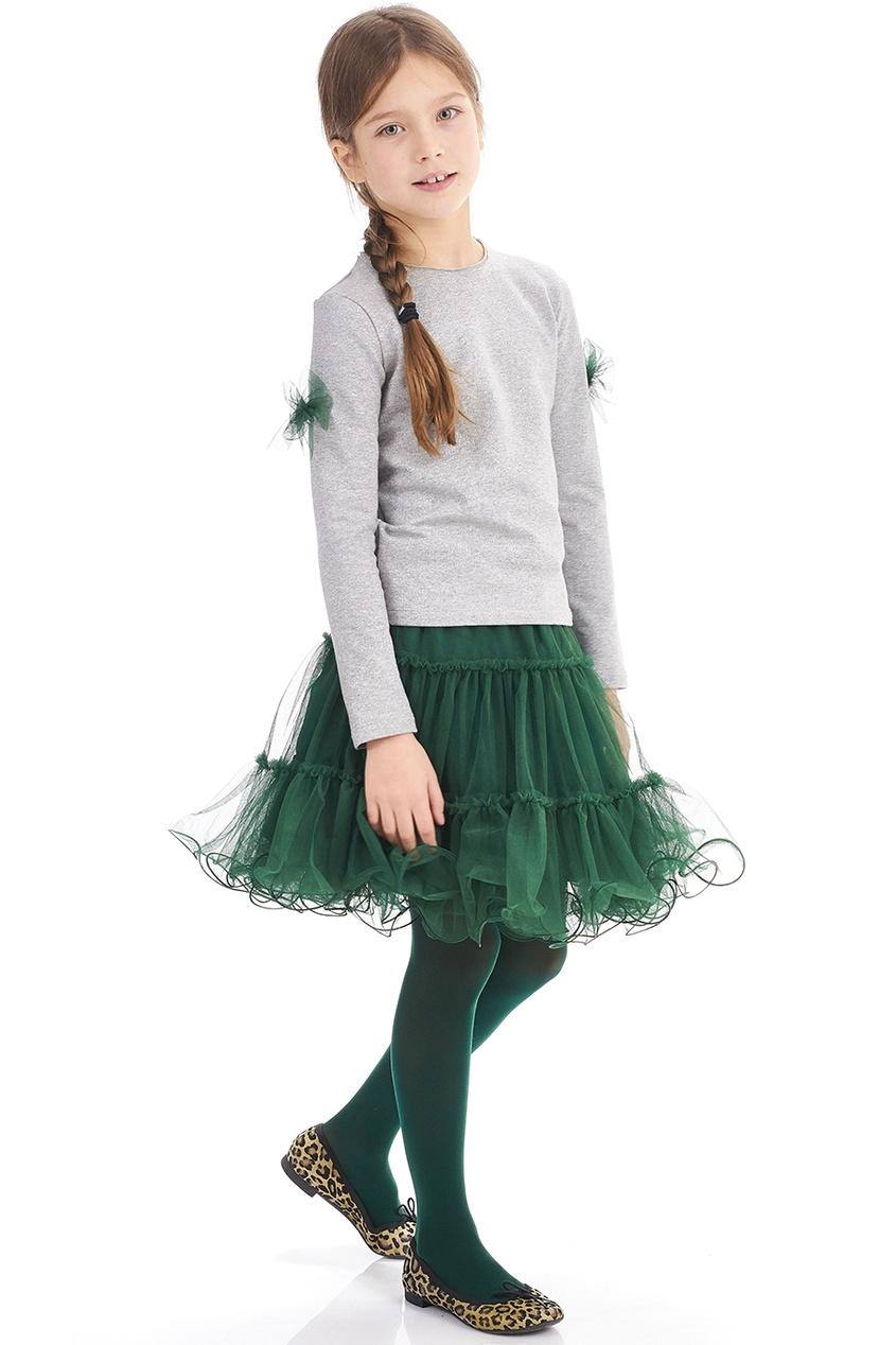 Зеленая двусторонняя юбка