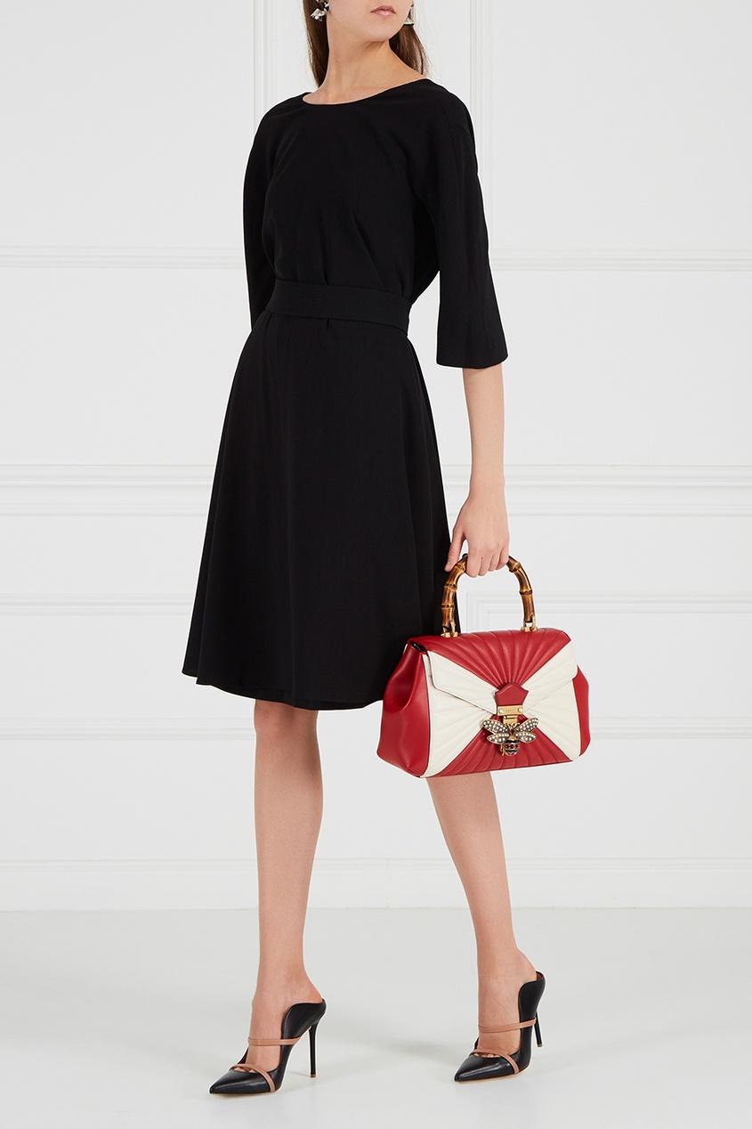 цена Gucci Кожаная сумка Queen Margaret онлайн в 2017 году