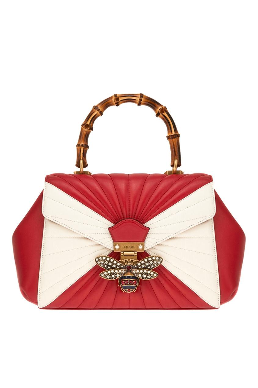 Gucci Кожаная сумка Queen Margaret gucci сумка