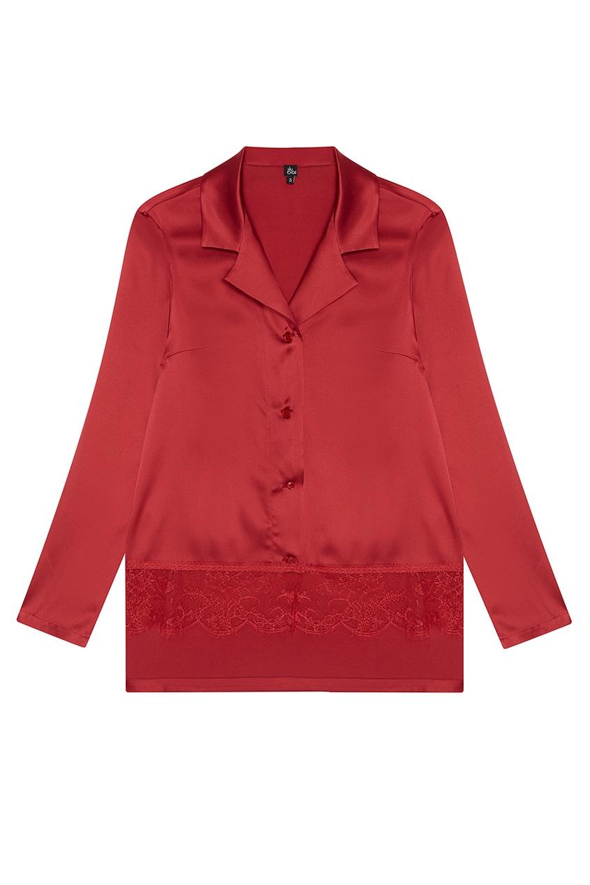 Купить со скидкой Шелковая красная пижама