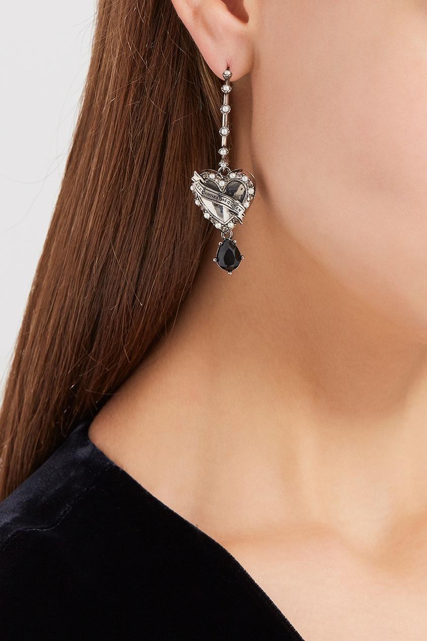 Alexander McQueen Серьги-кольца с подвесками серьги с подвесками jv серебряные серьги с ювелирным стеклом se0422 us 001 wg