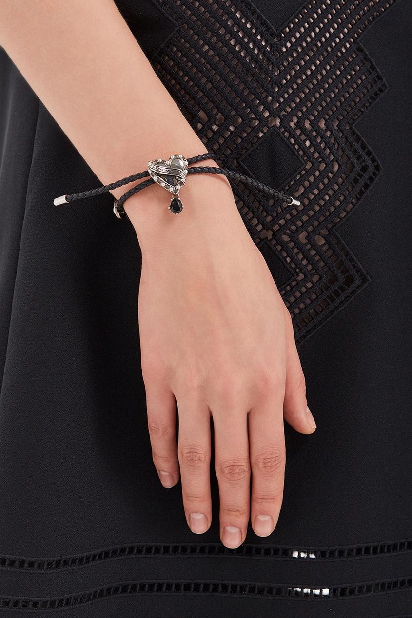 Alexander McQueen Кожаный браслет с сердцем