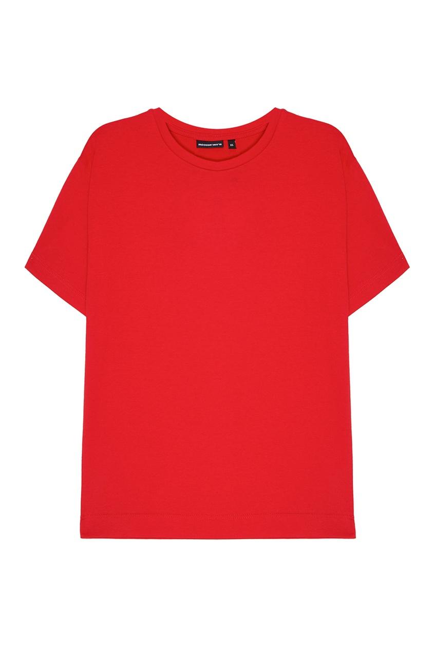 Красная хлопковая футболка