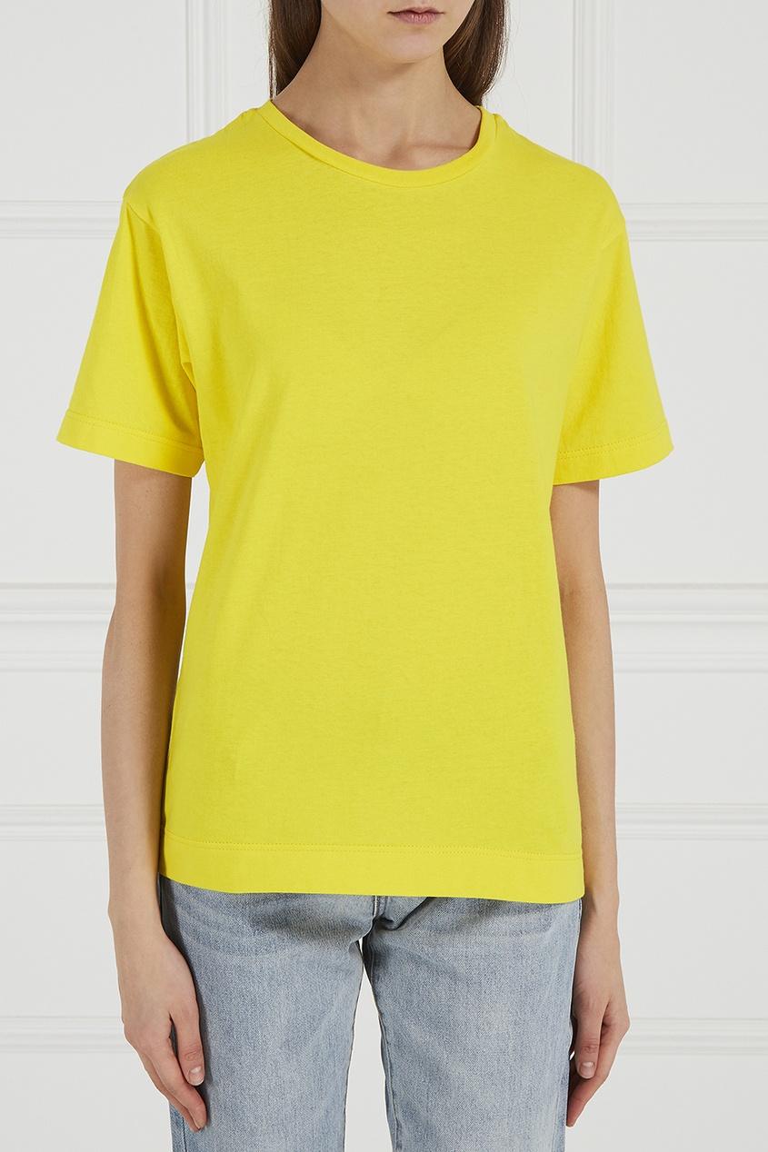 Желтая хлопковая футболка