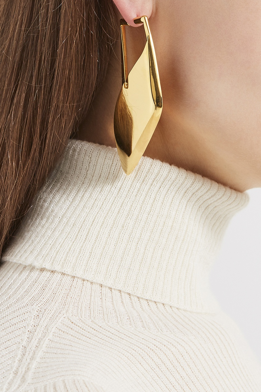 Balenciaga Золотистая моносерьга Wrap Buckle