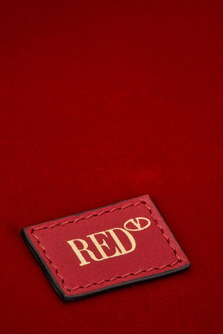 Red Valentino Бархатная сумка-торба red valentino черная сумка из замши rider