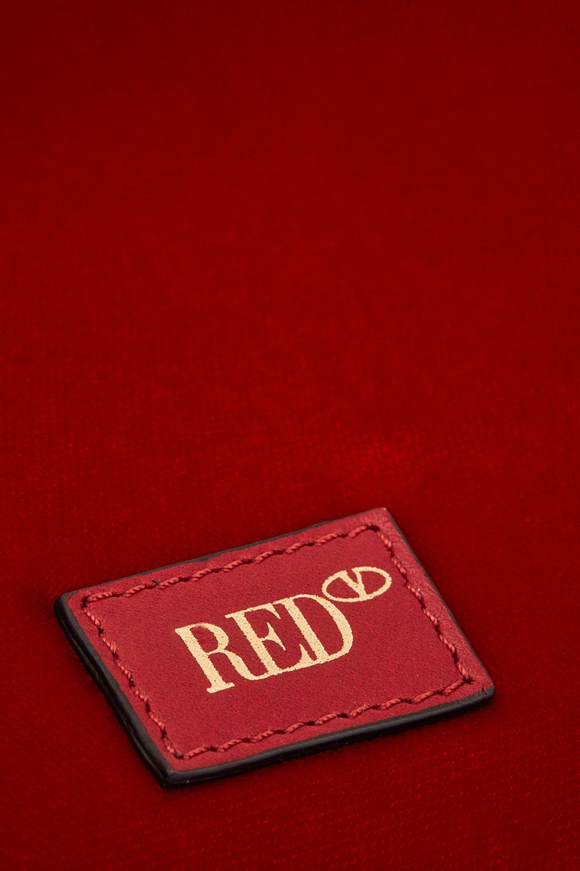 Red Valentino Бархатная сумка-торба red valentino замшевая сумка с декором