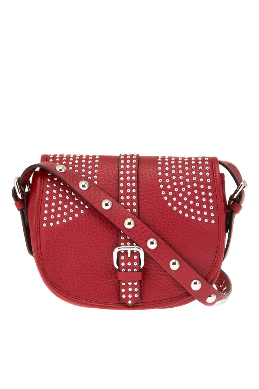 Red Valentino Красная сумка-мессенджер Rider red valentino замшевая сумка с декором