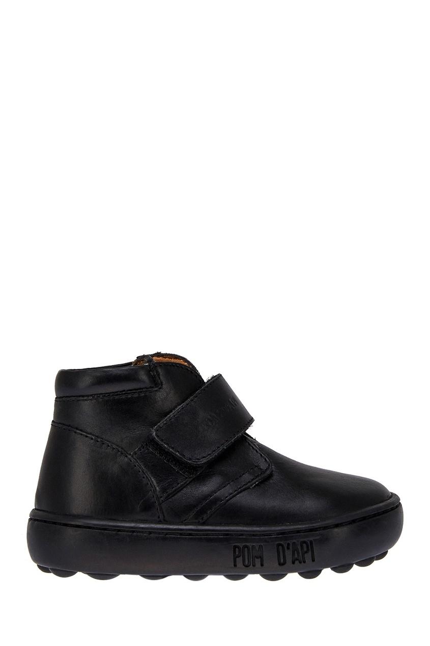 Pom D'Api Черные кожаные ботинки ботинки кожаные с кисточками