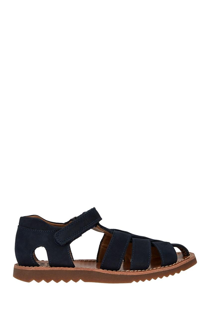 Pom D'Api Синие замшевые сандалии цены онлайн