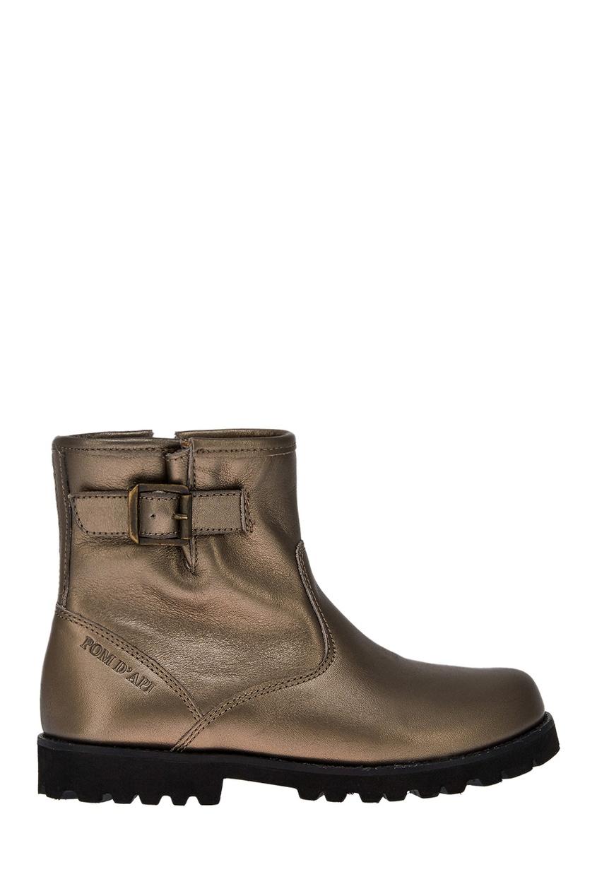 Pom D'Api Кожаные ботинки с металлизированной отделкой ботинки кожаные с бахромой