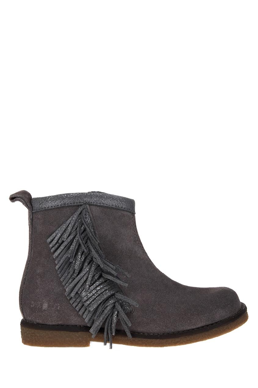 Shoopom Замшевые ботинки с бахромой цены онлайн