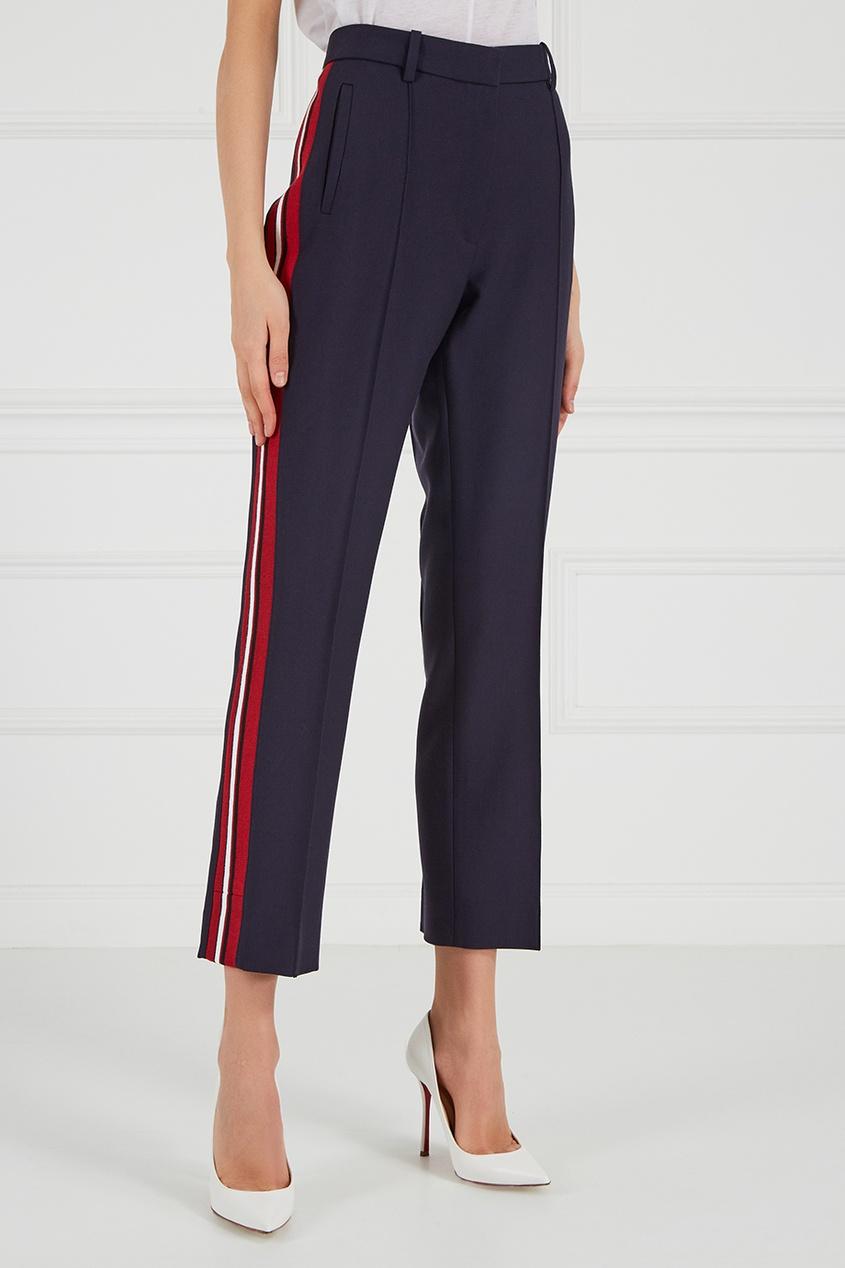 victoria beckham укороченные джинсы Victoria Beckham Синие брюки с лампасами