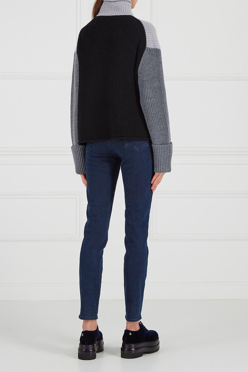 victoria beckham укороченные джинсы Victoria Beckham Шерстяной свитер в рубчик