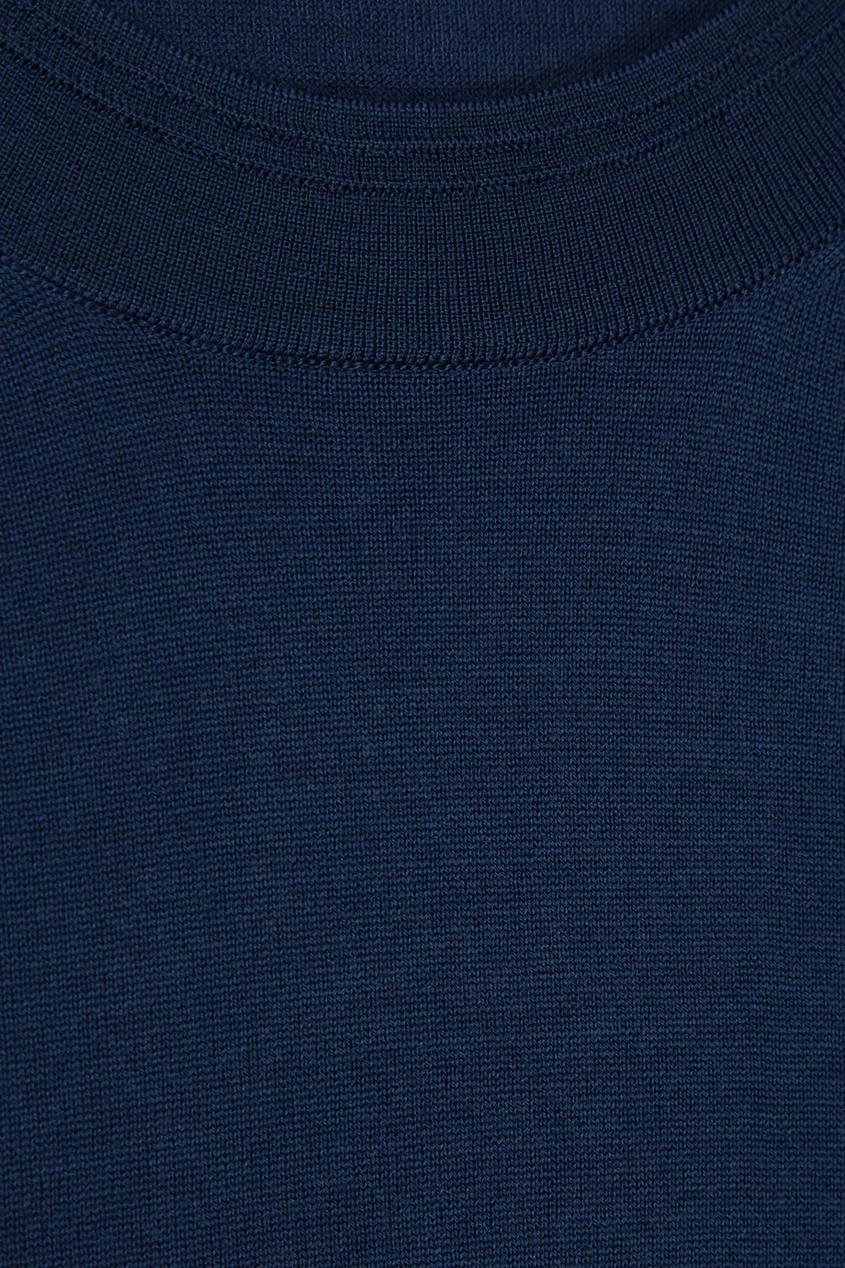 Темно-синий шерстяной джемпер