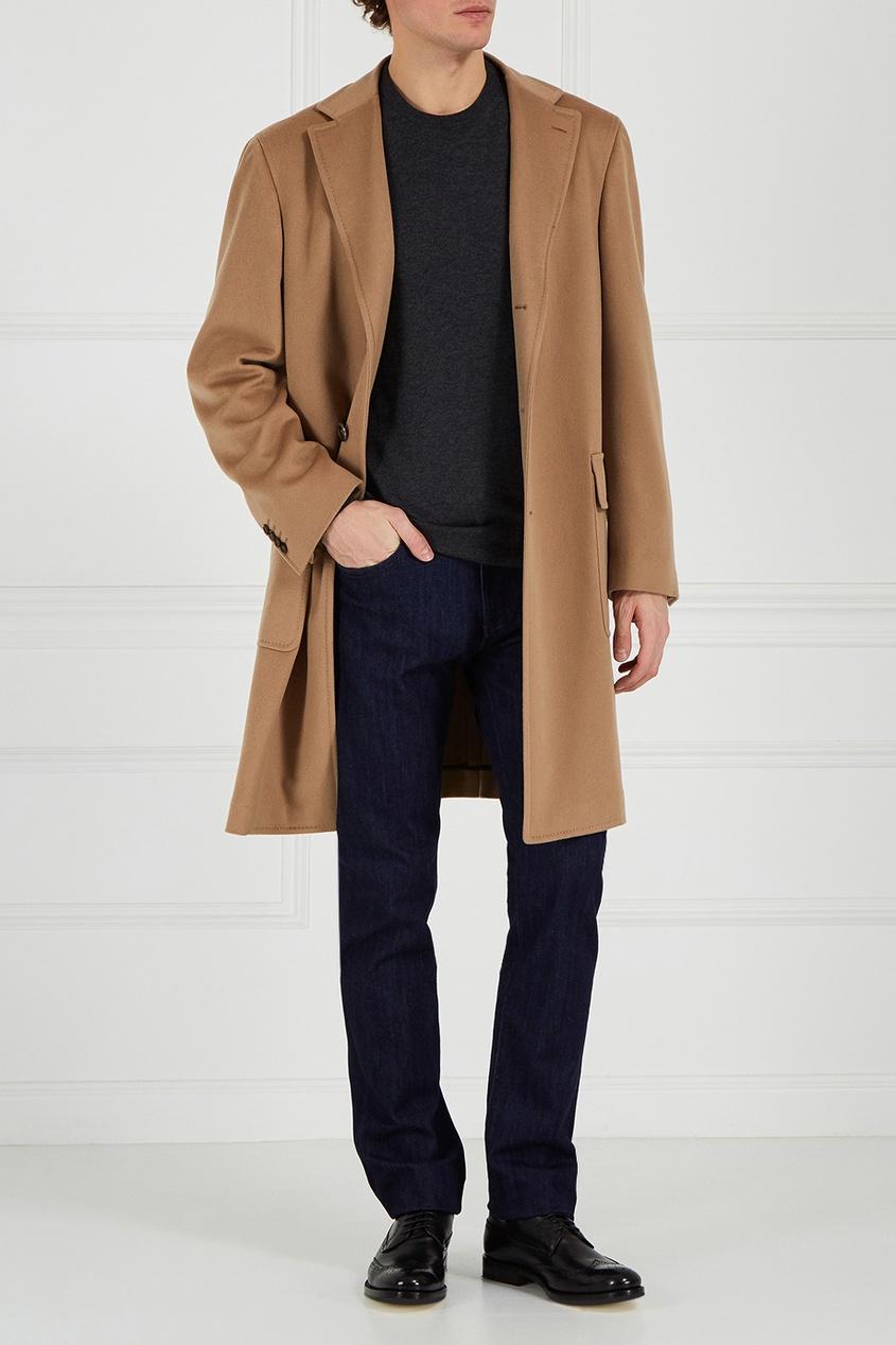 Canali Пальто из шерсти и кашемира