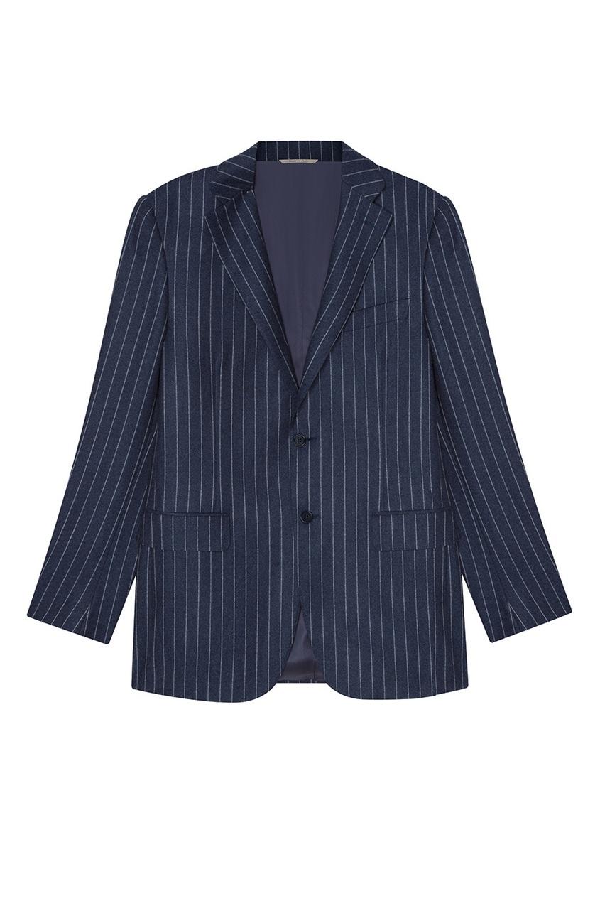 Canali Синий шерстяной костюм-двойка костюм двойка js collections костюм двойка