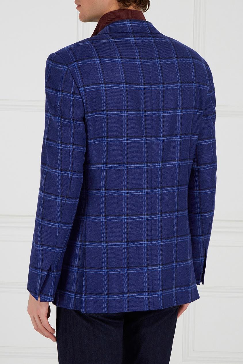 Кашемировый пиджак в клетку от Canali