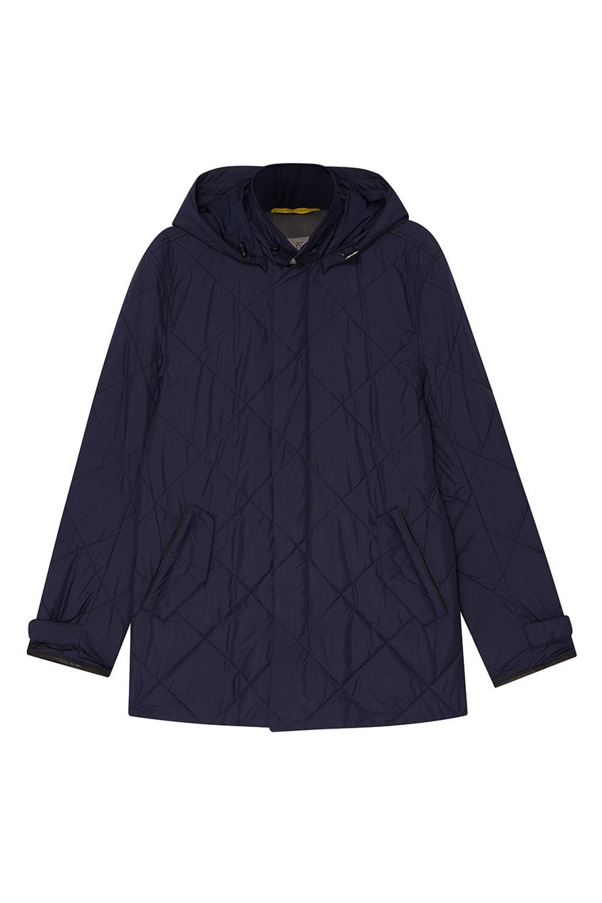 Canali Стеганая куртка  капюшоном