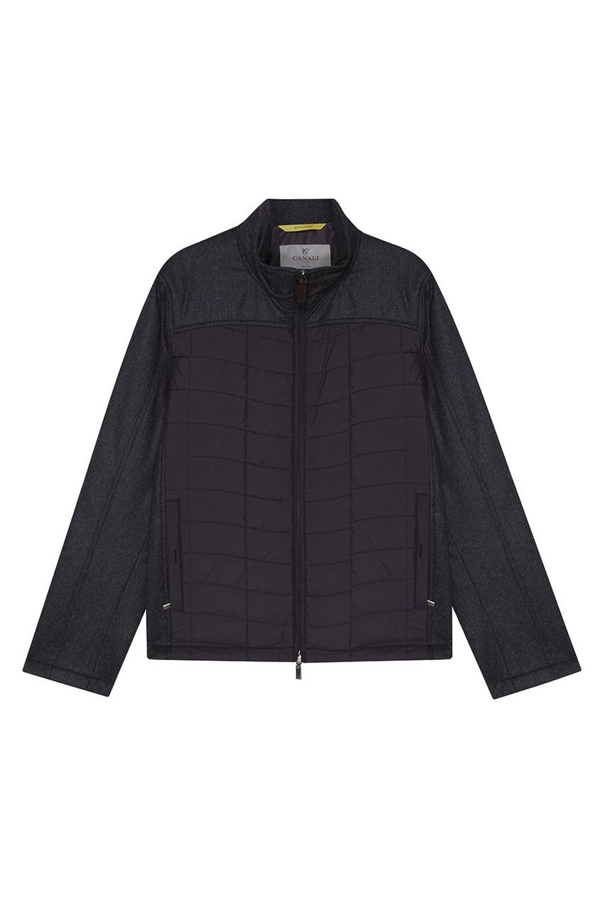 Купить Куртку со стегаными панелями от Canali серого цвета