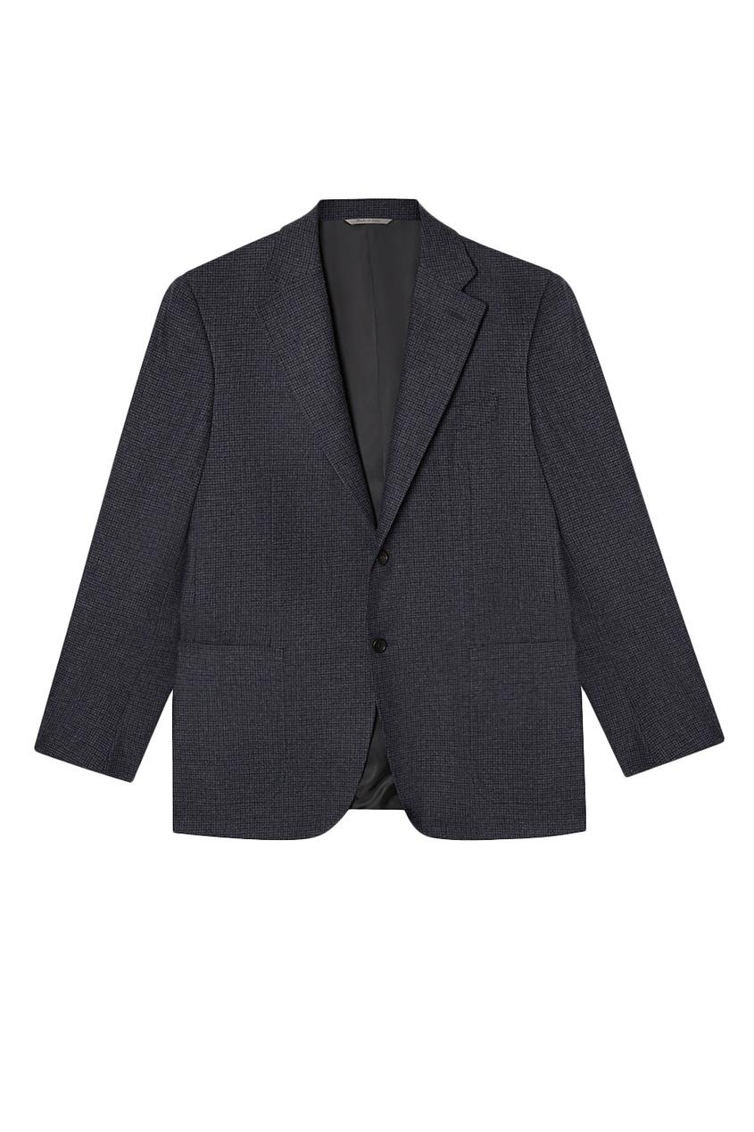 Серый пиджак из шерсти и кашемира
