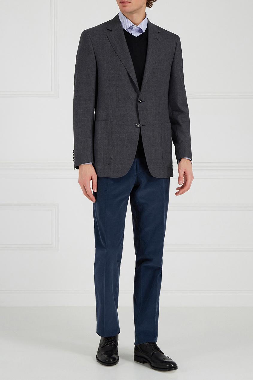 мужской пиджак canali, серый