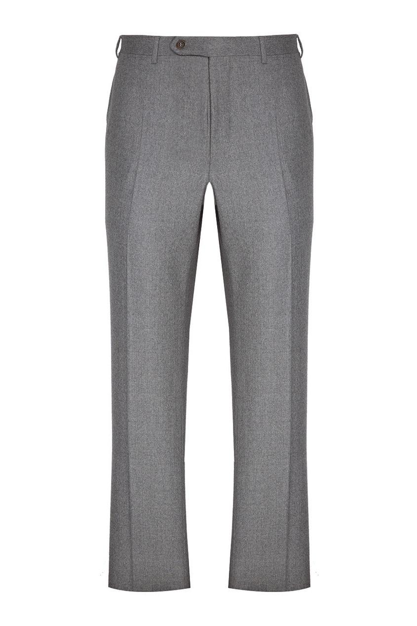 Canali Серые шерстяные брюки brioni шерстяные брюки серые
