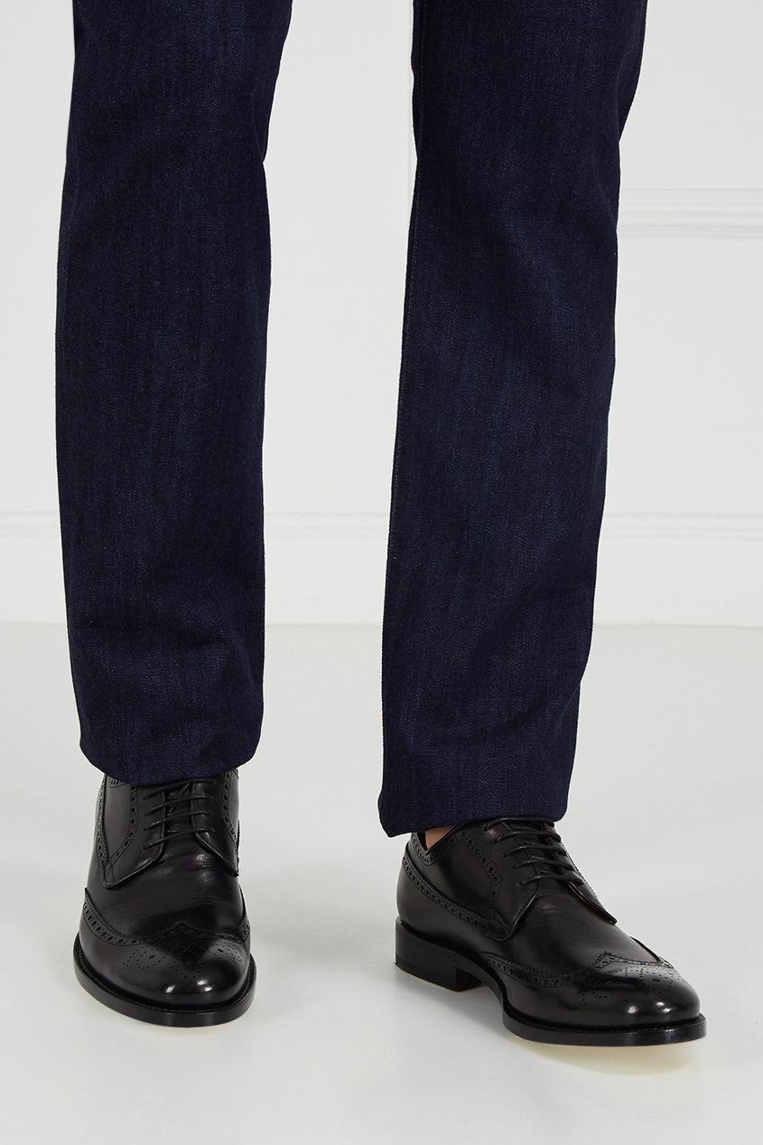 Canali Черные броги из кожи броги мужские vitacci цвет черный m17049 размер 40