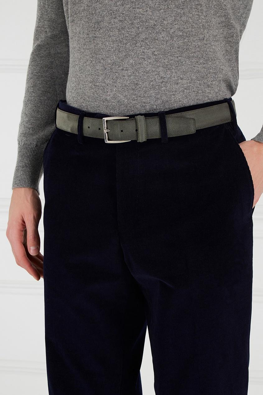 мужской ремень canali, серый