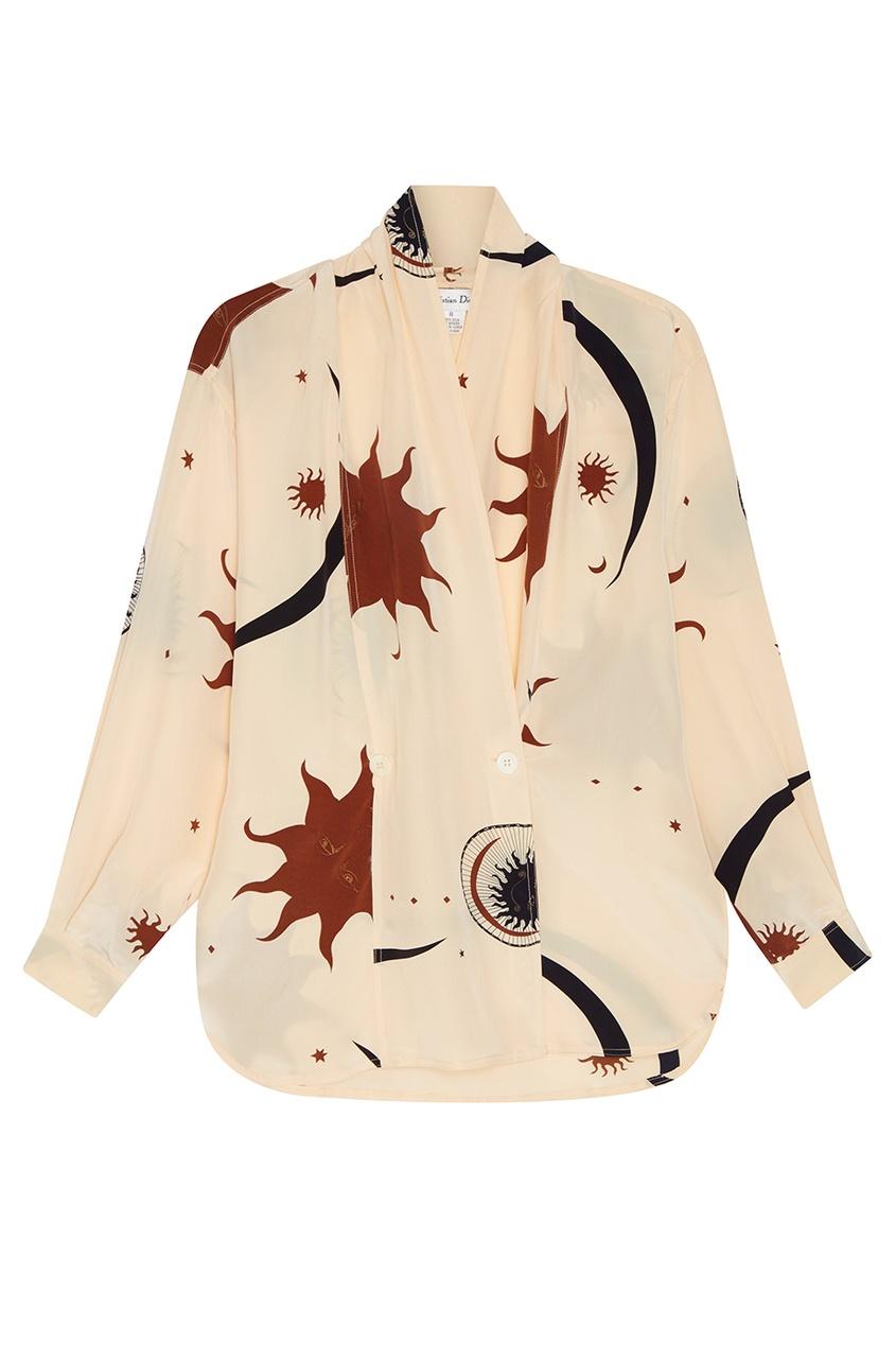 Christian Dior Vintage Шелковая блузка с принтом (90-е) escada by margaretha ley vintage шелковая блузка с принтом 80 е