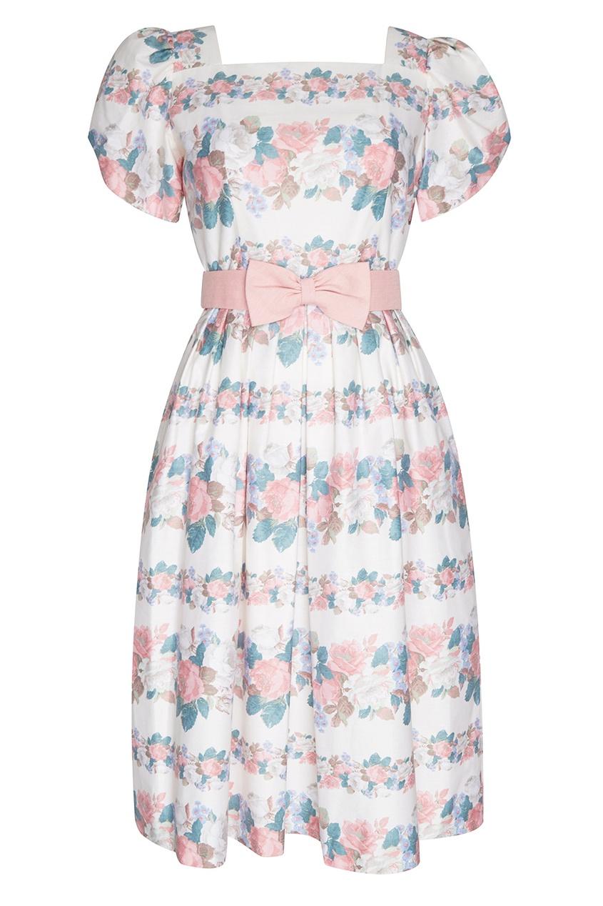 Lanz Vintage Платье с цветочным принтом (80-е) escada by margaretha ley vintage шелковая блузка с принтом 80 е