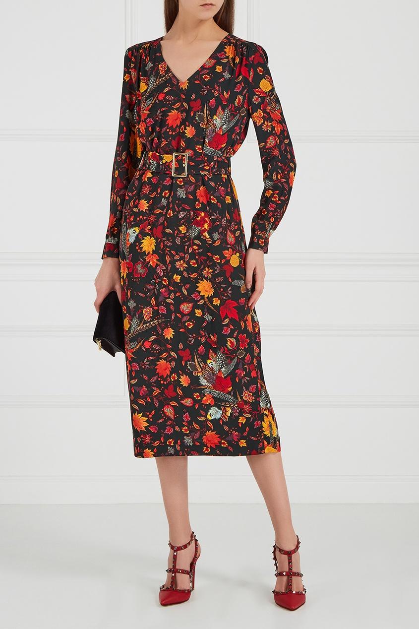 LAROOM Платье с ярким принтом laroom платье с вырезами на плечах