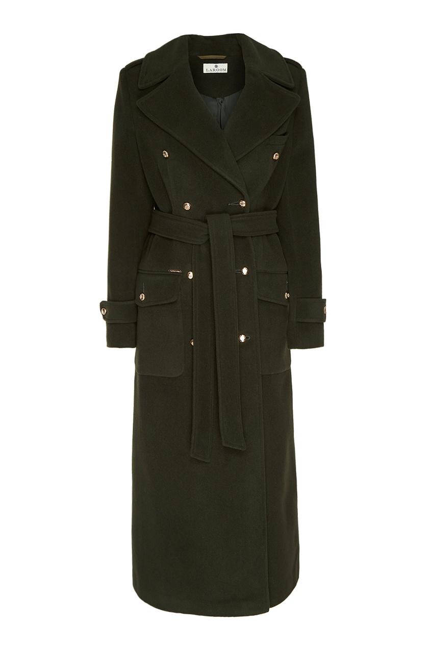 LAROOM Двубортное пальто в стиле милитари laroom двубортное полупальто из шерсти