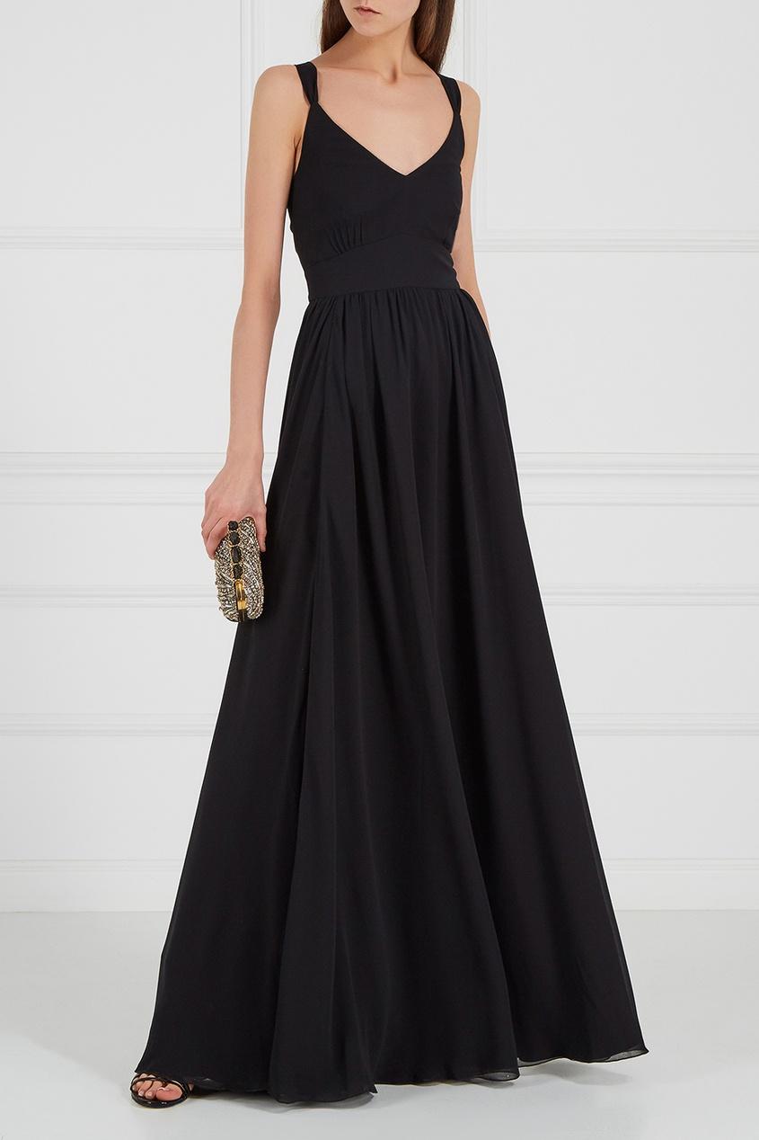 LAROOM Черное платье-макси laroom черное платье макси