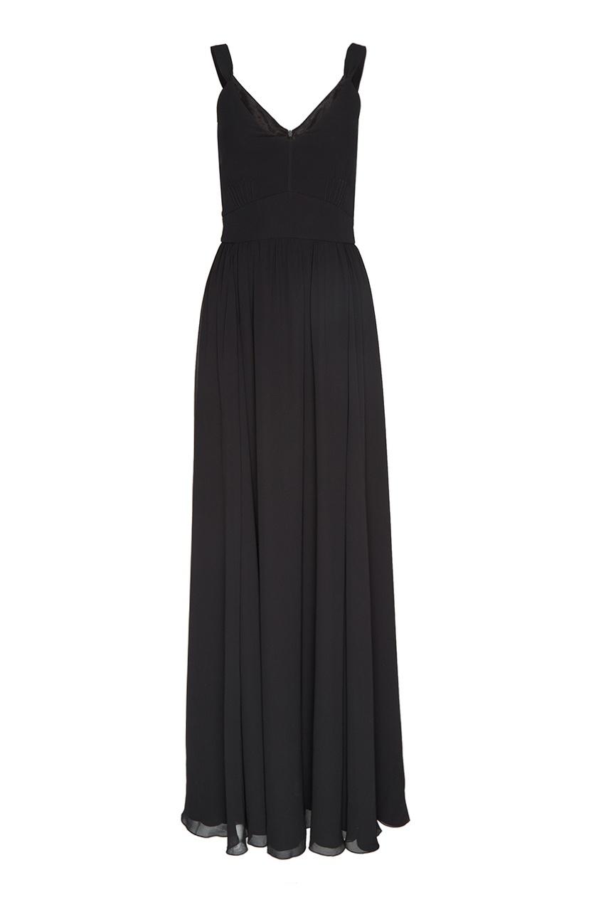 Черное платье-макси