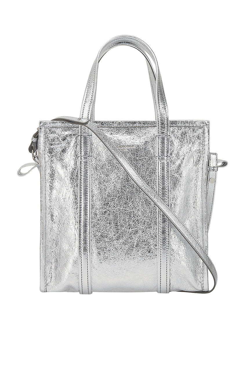 Серебристая сумка Bazar Shopper S
