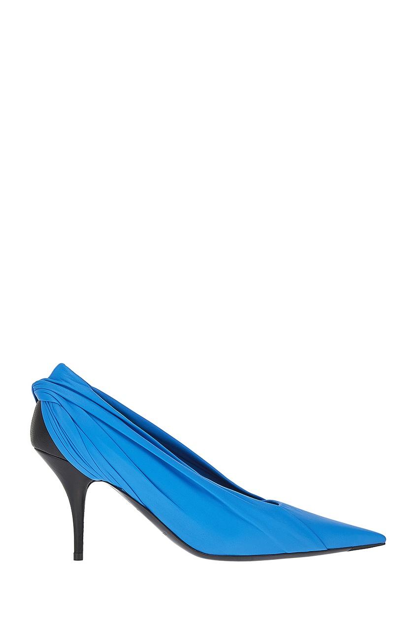 Balenciaga Синие кожаные туфли