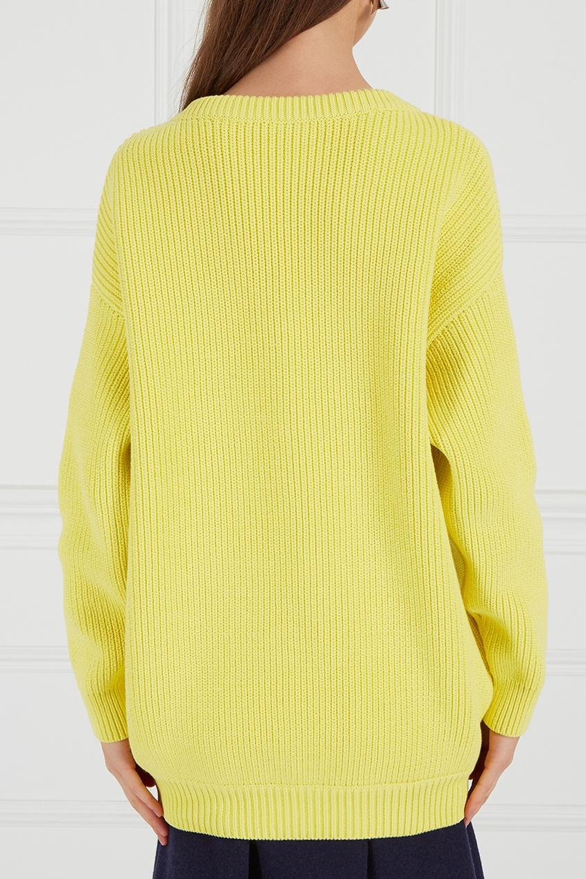 Balenciaga Желтый хлопковый пуловер balenciaga шерстяной пуловер