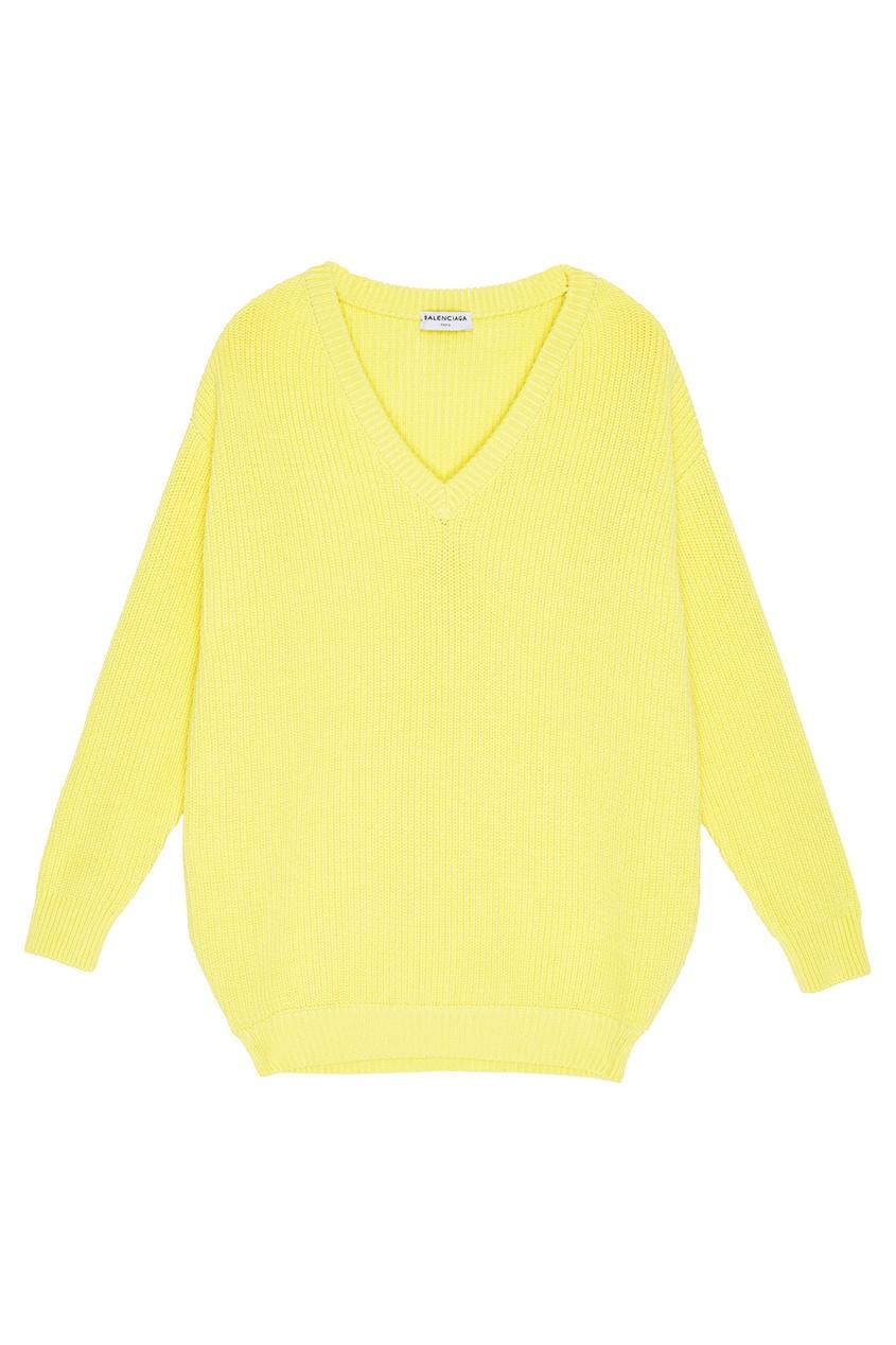 Balenciaga Желтый хлопковый пуловер пуловер