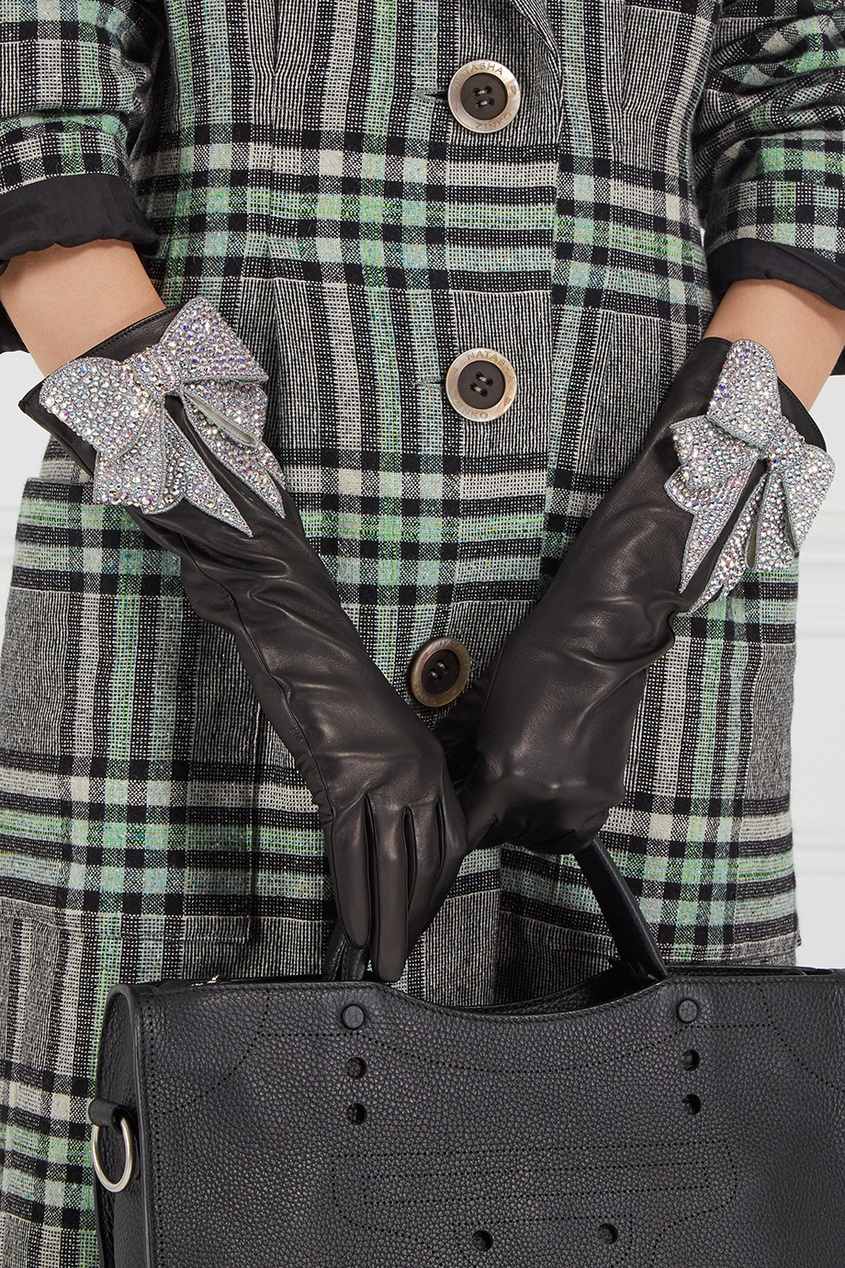 Gucci Кожаные перчатки с бантом gucci кожаные сапоги