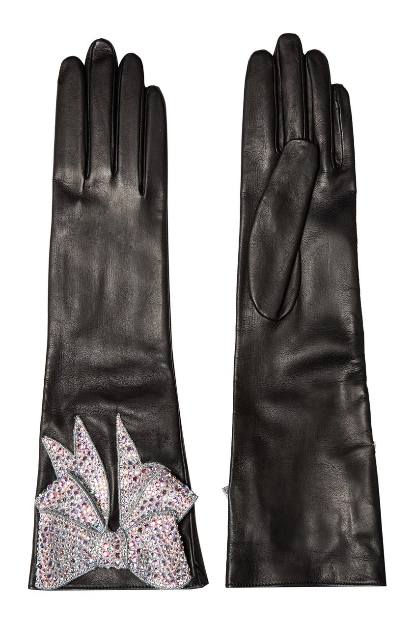 Gucci Кожаные перчатки с бантом