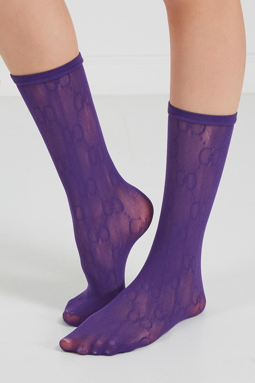 Фиолетовые сетчатые носки