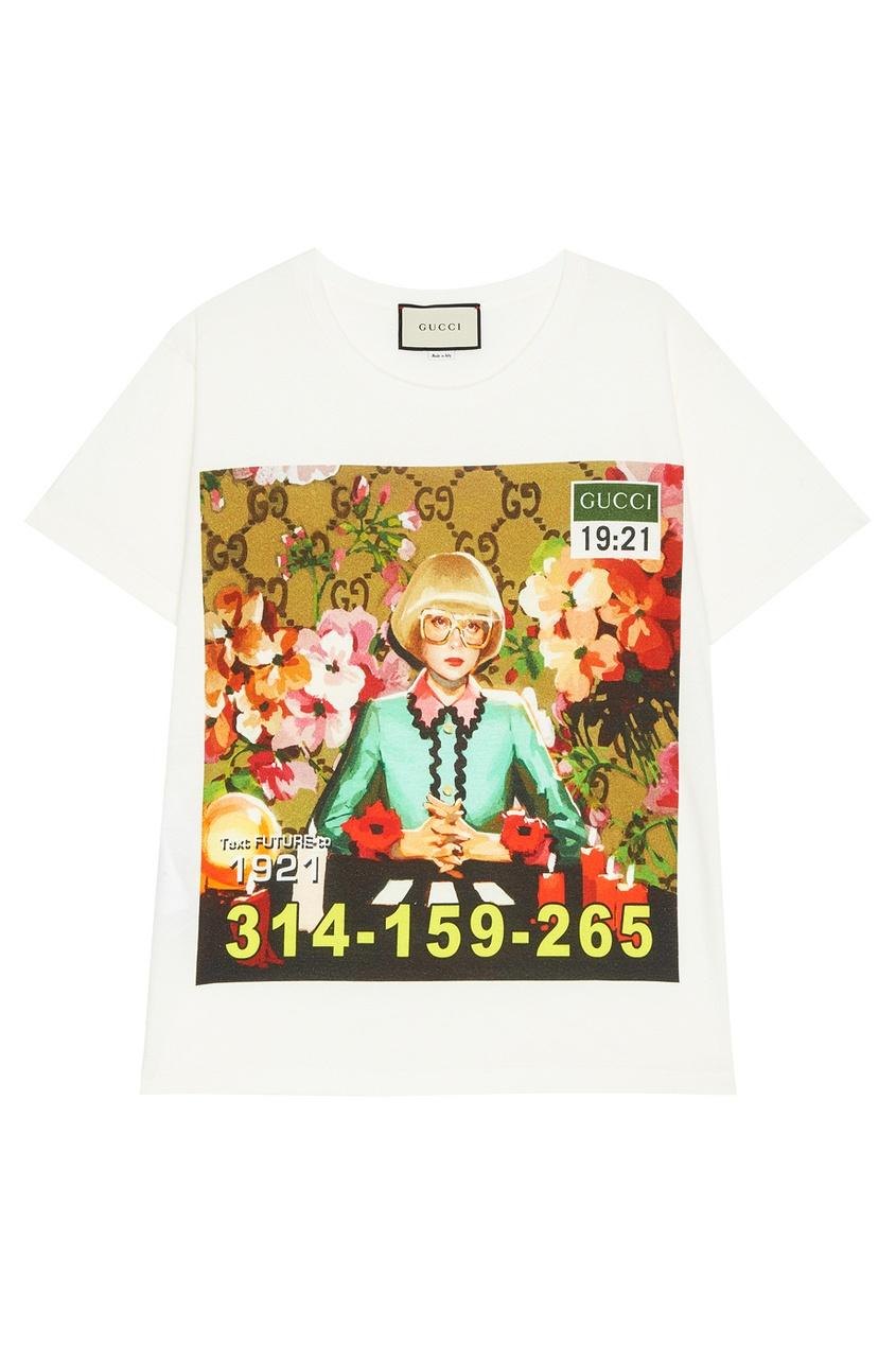 Хлопковая футболка с принтом Ignasi Monreal от Gucci